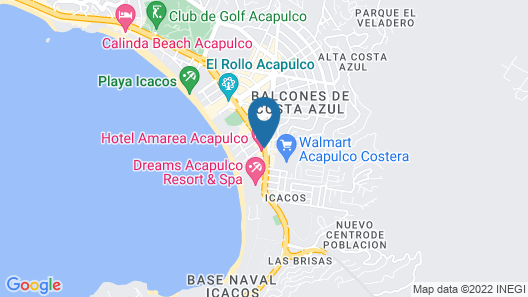 Amarea Hotel Acapulco Map