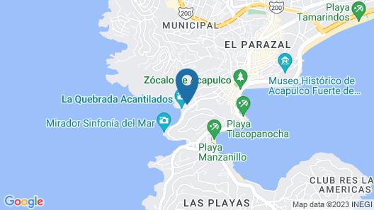 El Mirador Acapulco Map