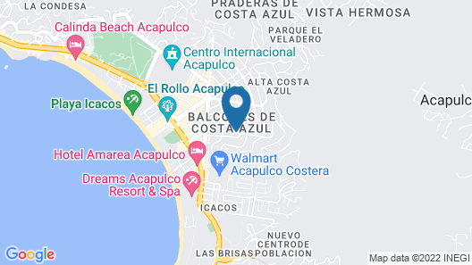 Hotel Real Da Vinci Acapulco Map