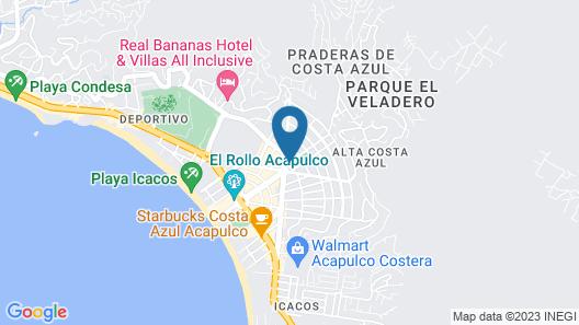 Hotel Costa Azul Map