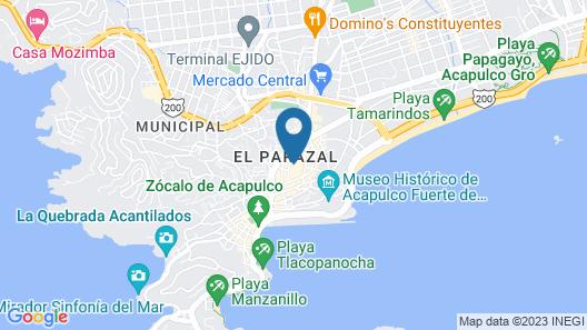 Casa Costa Azul Map