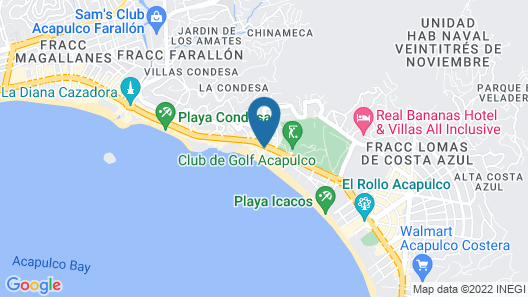 Calinda Beach Acapulco Map