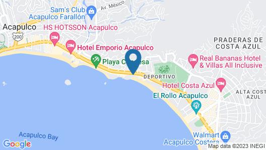 Hotel El Presidente Acapulco Map