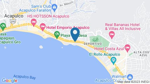 Holiday Inn Resort Acapulco Map