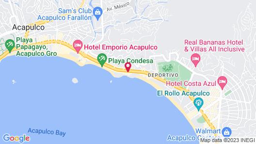 Las Torres Gemelas Acapulco Map