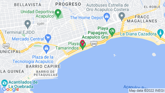 We Hotel Acapulco Map