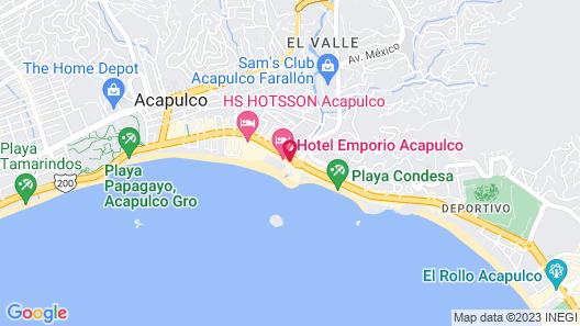 Hotel Emporio Acapulco Map