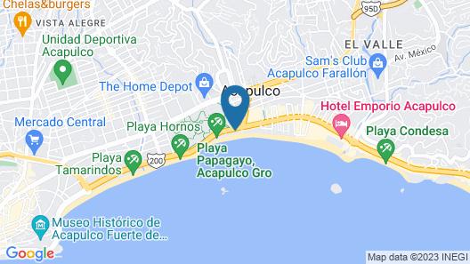 Krystal Beach Acapulco Map