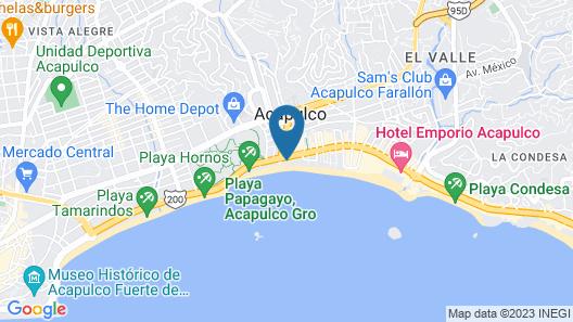 Ritz Acapulco Hotel de Playa Map