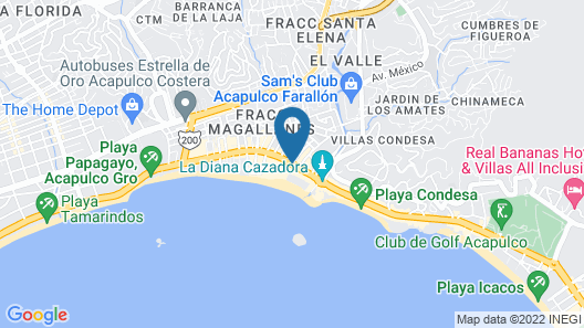 Sands Acapulco Hotel & Bungalows Map