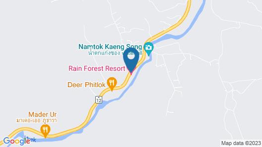 Rain Forest Resort Phitsanulok Map