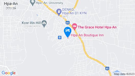 Hpa An Boutique Inn Map
