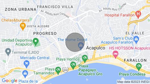 Habitación A/A, Jacuzzi, Balcón con vista al Mar, Alberca con Jacuzzi Map