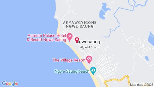 Grand Ngwe Saung Resort Map