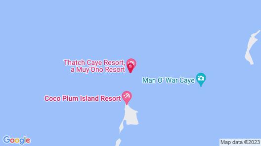 Thatch Caye, a Muy'Ono Resort Map