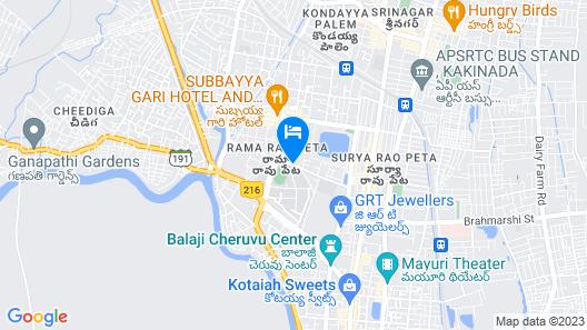 Grand Kakinada by GRT Hotels Map