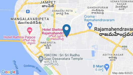 Hotel Shelton Rajamahendri Map
