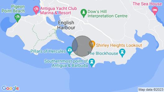 Calypso Villa Galleon Beach 2mins Walk Map