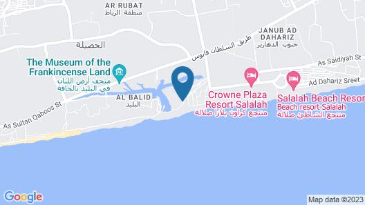 Al Baleed Resort Salalah by Anantara Map