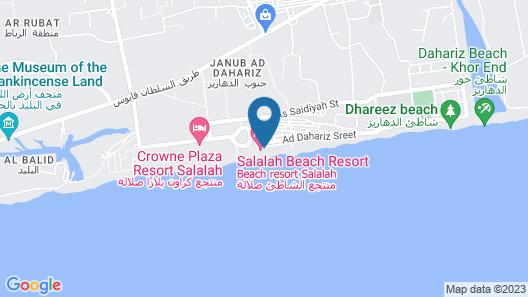 Beach Resort - Salalah Map