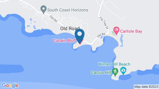 Curtain Bluff Resort - All Inclusive Map
