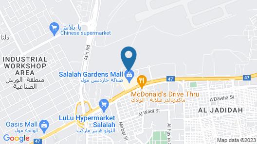 Salalah Gardens Hotel Map