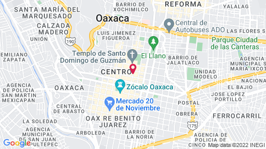 Quinta Real Oaxaca Map