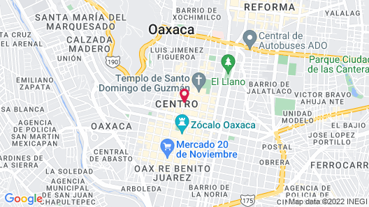 Oaxaca Real Hotel Map