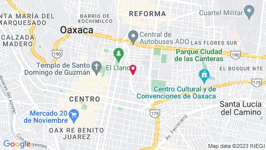 Los Pilares Hotel Map