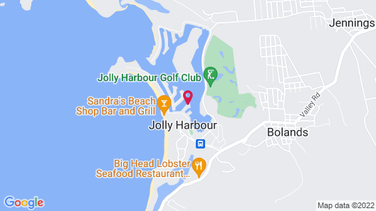 Villa 415A at Jolly Harbour Map