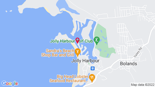 HBK Villa Rentals at Jolly Harbour Map