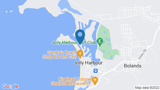 HBK Villa Rentals at Jolly Harbour Map