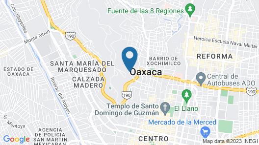 Hotel Victoria Oaxaca Map