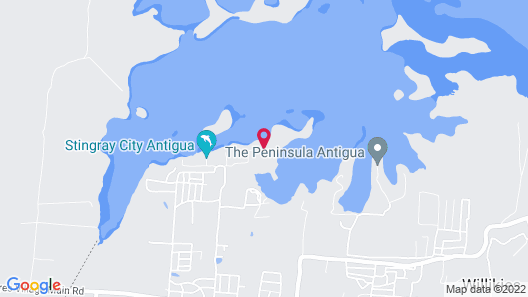 Blue Bay Antigua Map