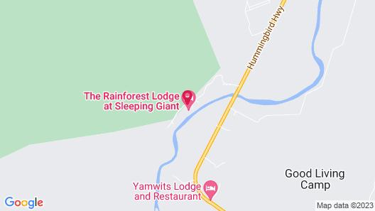 Sleeping Giant Rainforest Lodge Map