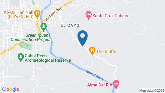 The Maya Mountain Lodge Map