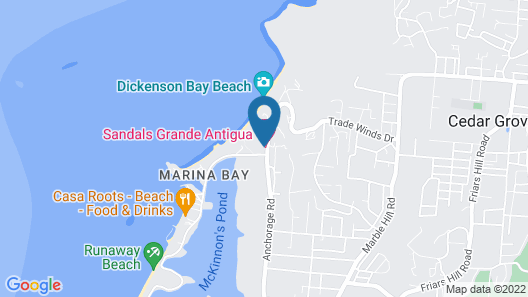 Sandals Grande Antigua - ALL INCLUSIVE Couples Only Map