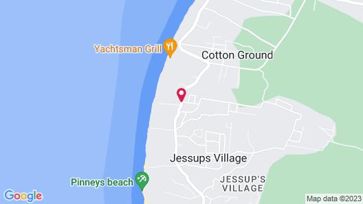 Paradise Beach Nevis Map