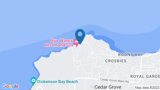 Blue Waters Resort and Spa Map