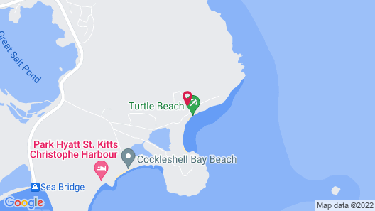 Luxury Villa, Panoramic Caribbean Views, Turtle Beach, Grill, Pool! Map