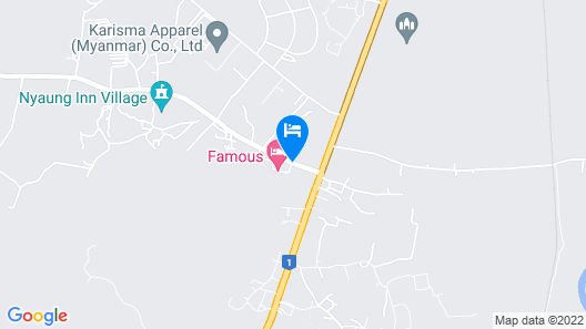 Famous Hotel Bago Map