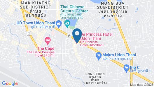 De Princess Hotel Udonthani Map