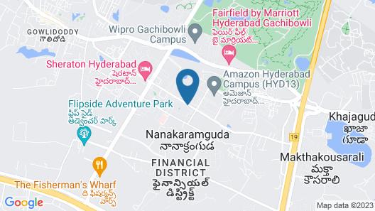 Hyatt Hyderabad Gachibowli Map