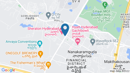Sheraton Hyderabad Hotel Map