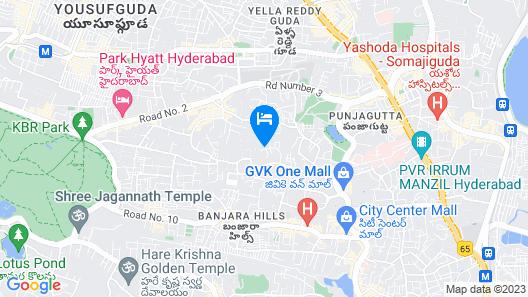 Radisson Blu Plaza Hotel Hyderabad Banjara Hills Map