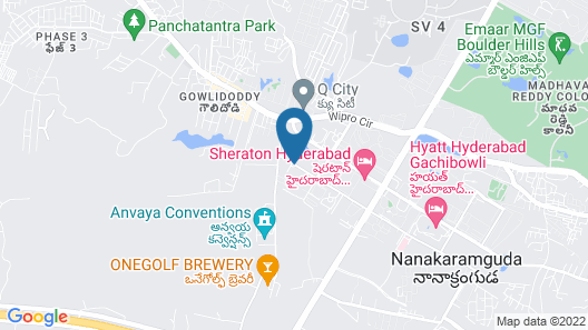 Lemon Tree Hotel Gachibowli Hyderabad Map