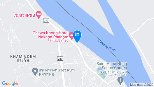 Blu Hotel Nakhon Phanom Map