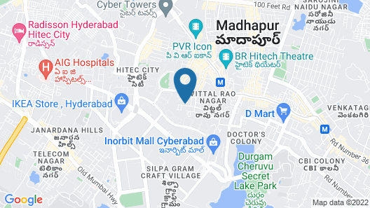 OYO 20008 SilverKey Madhapur Map