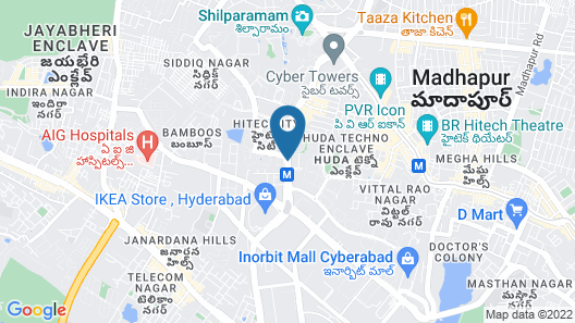 Red Fox Hotel, HITEC City, Hyderabad Map