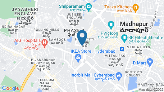 Lemon Tree Premier, HITEC City, Hyderabad Map